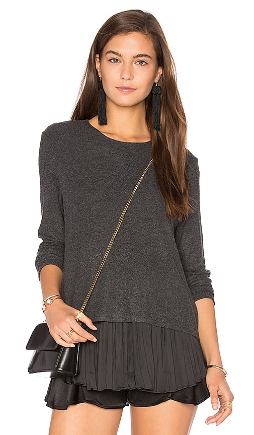 Generation Love Wilma Pleats Top in Gray