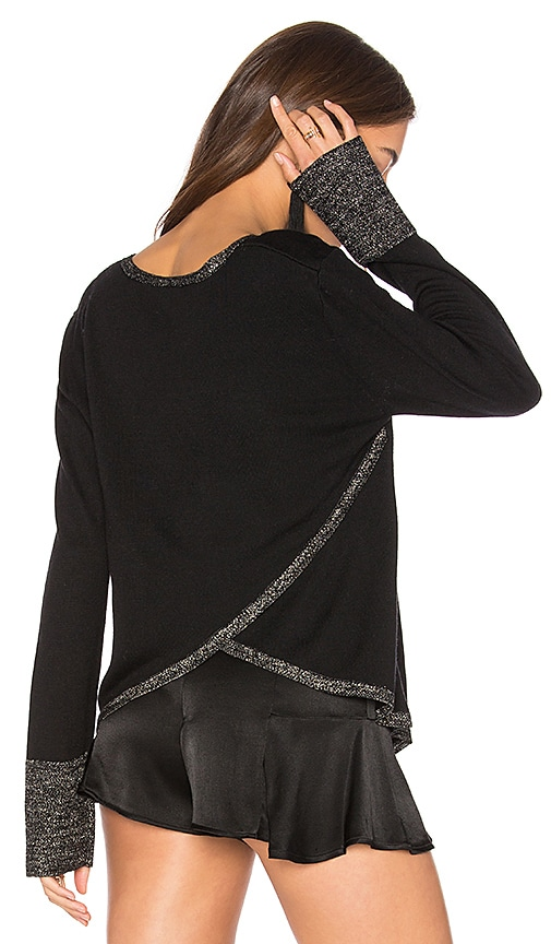 Generation Love Stella Lurex Top in Black