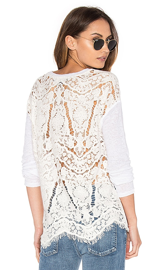 Generation Love Nyla Embroidered Top in White