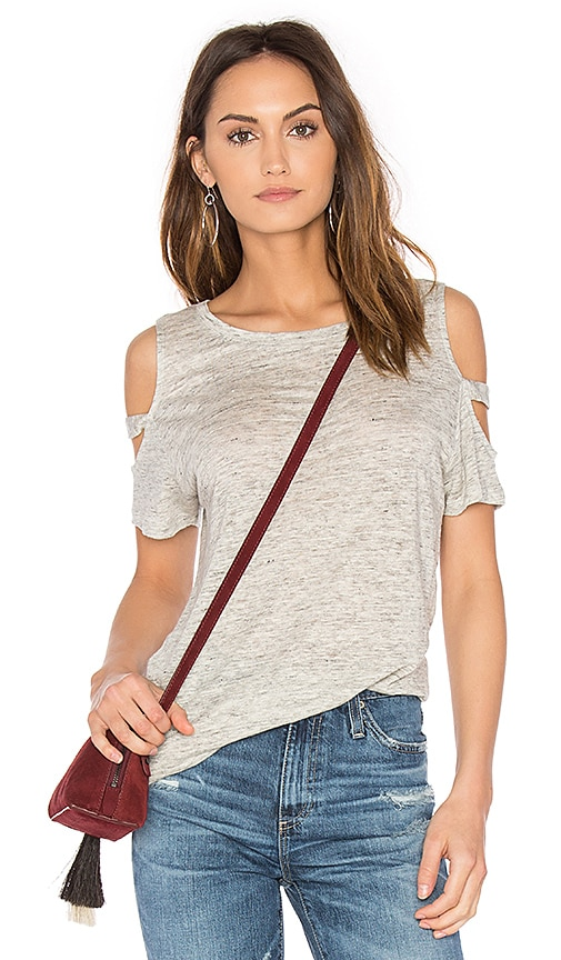 Generation Love Kendall Cold Shoulder Top in Gray