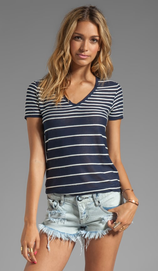 Giovanna V-Neck Striped Tee