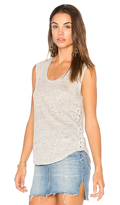 Generation Love Madge Lace Up Tank in Gray