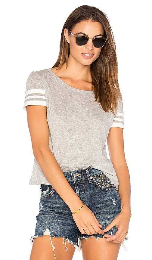 Generation Love Ingrid Rib Tee in Gray