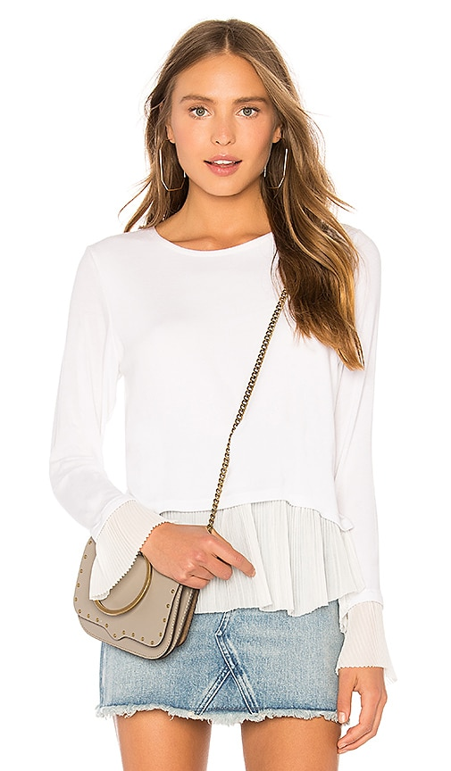 Generation Love Denise Pleats Top in White