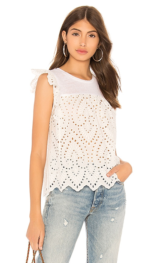 Generation Love Courtney Eyelet Lace Top in White