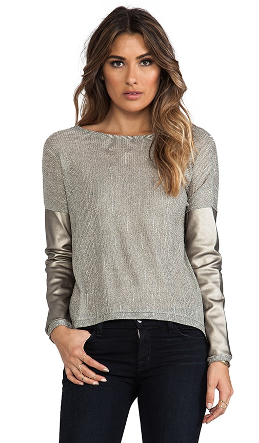 Bobo Metallic Long Sleeve Top