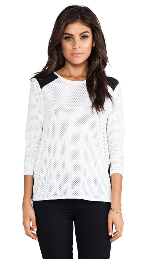Sydney Perforated Combo Long Sleeve