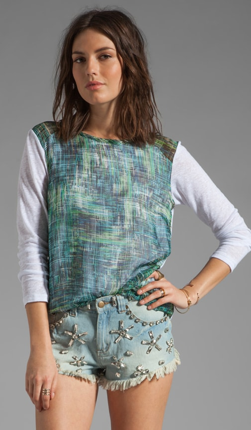 Phoenix Knit and Silk Combo Shirt