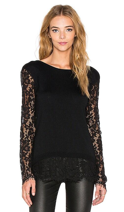 Generation Love Jenna Lace Long Sleeve Blouse in Black