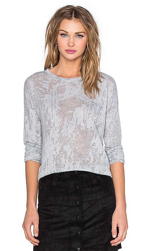 Generation Love Nikki Burnout Tee in Heather Grey