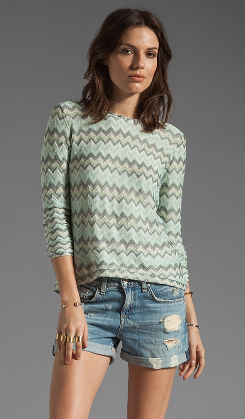 Judy Open Back Curved Long Sleeve