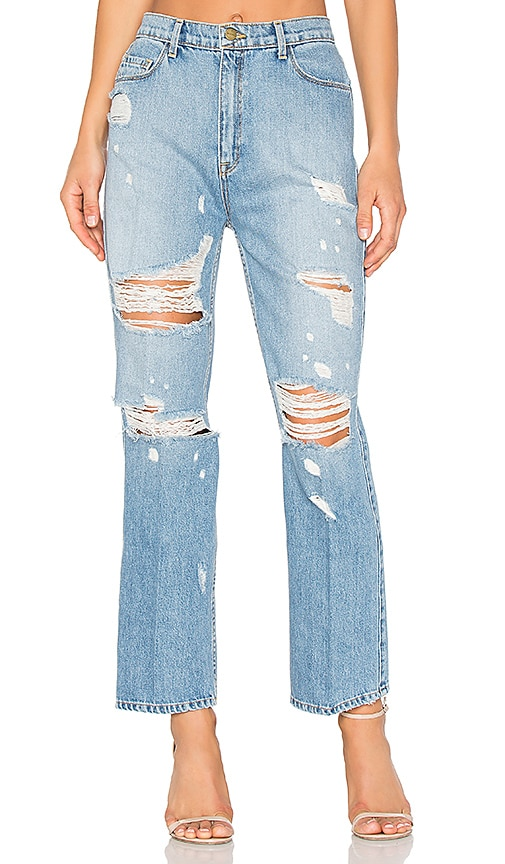GM STUDIO The Retro High Rise Jean in Vintage Wash