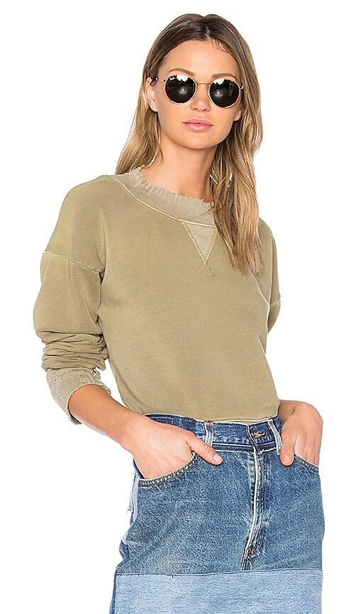 GM STUDIO The Distressed Sweatshirt in Olive