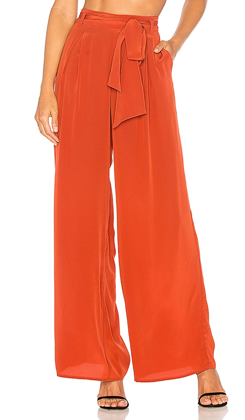 GM STUDIO The Silk Underground Pant in Rust