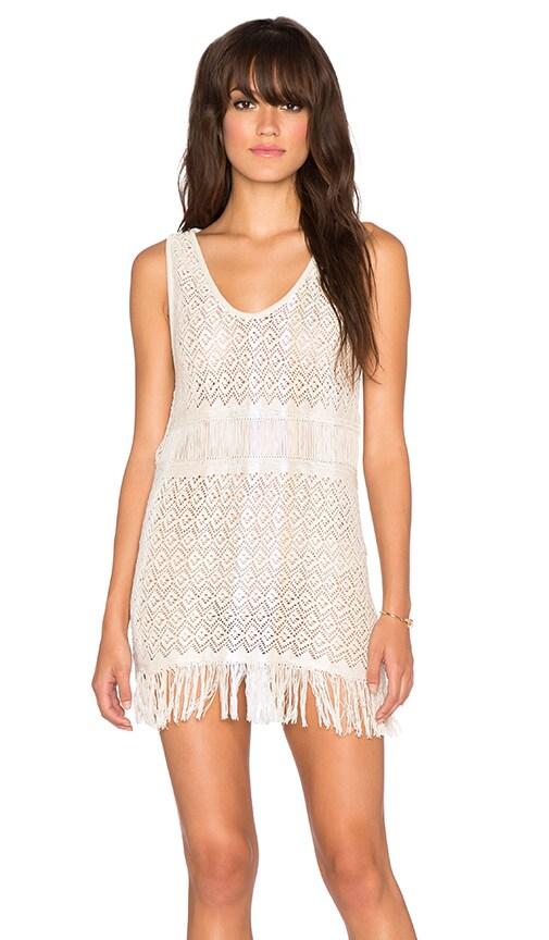 Goddis Zane Fringe Mini Dress in Bashful
