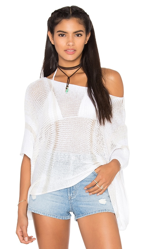 Goddis Star Chaser Crop Sweater in White