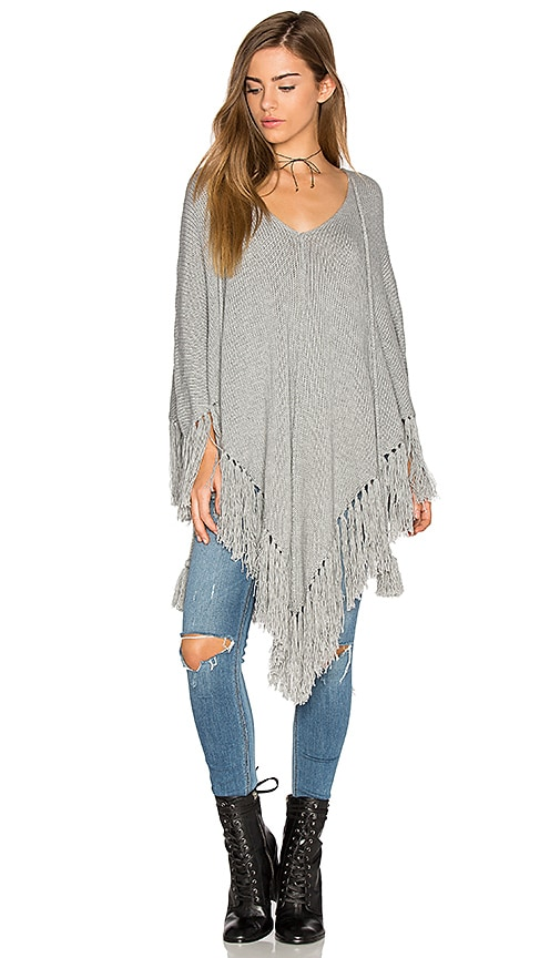 Goddis Free Spirit Poncho in Gray