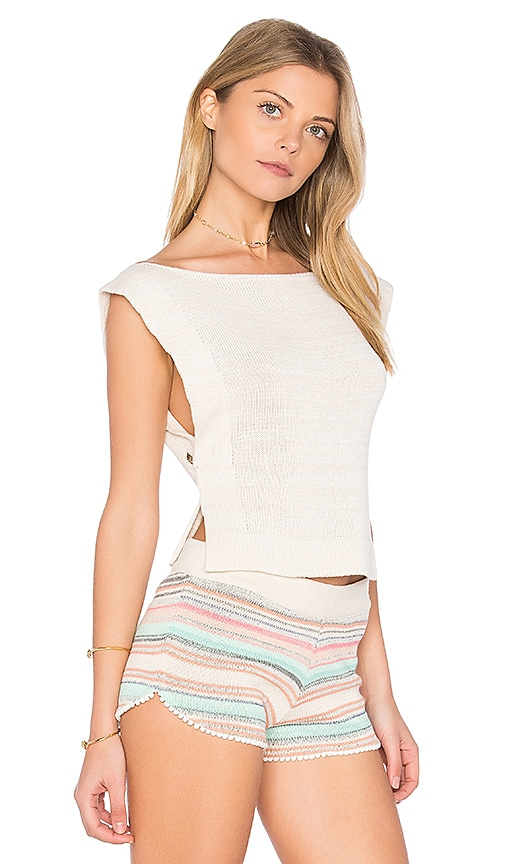 Goddis Tula Sleeveless Sweater in Ivory
