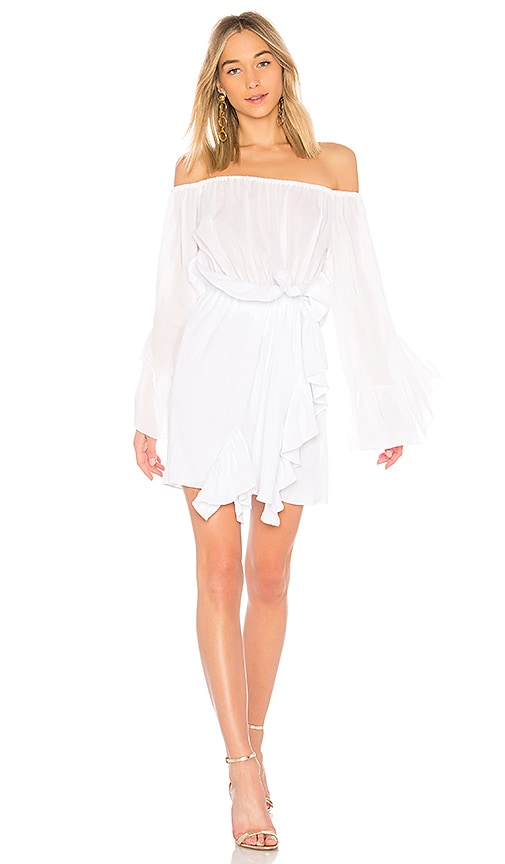 GOEN.J Off the Shoulder Dress in White
