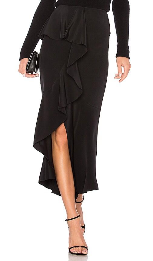 GOEN.J Off Center Ruffle Skirt in Black