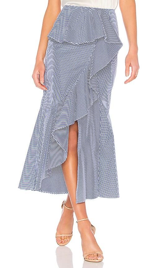 GOEN.J Striped Midi Skirt in Blue