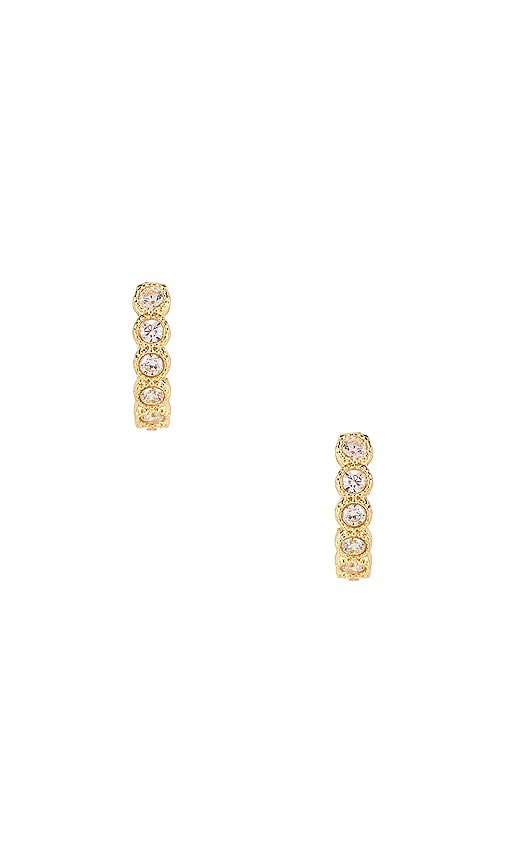 Madison Shimmer Huggie Earrings