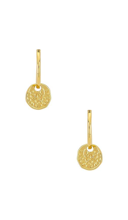 Ana Coin Huggie Earrings