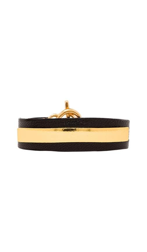 Graham Leather Bar Triple Wrap Bracelet