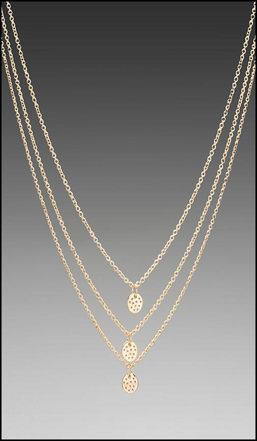 3 Disc Shimmer Layer Necklace