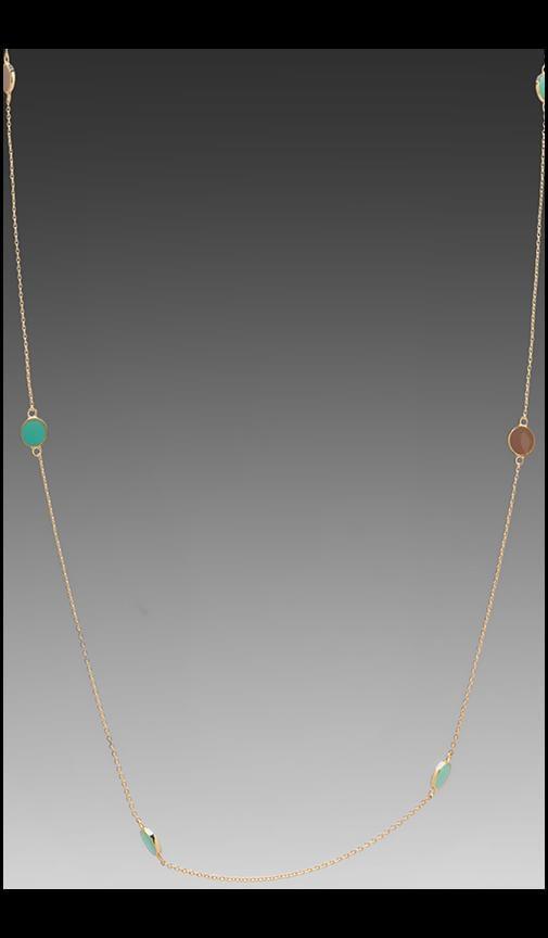 Bloom Disc Wrap Necklace