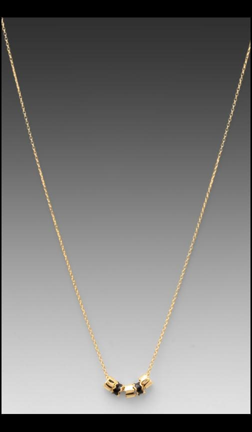 Zig Zag Enamel Small Necklace