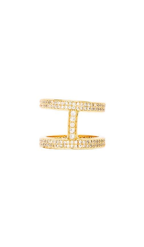 Lena Shimmer Double Bar Ring