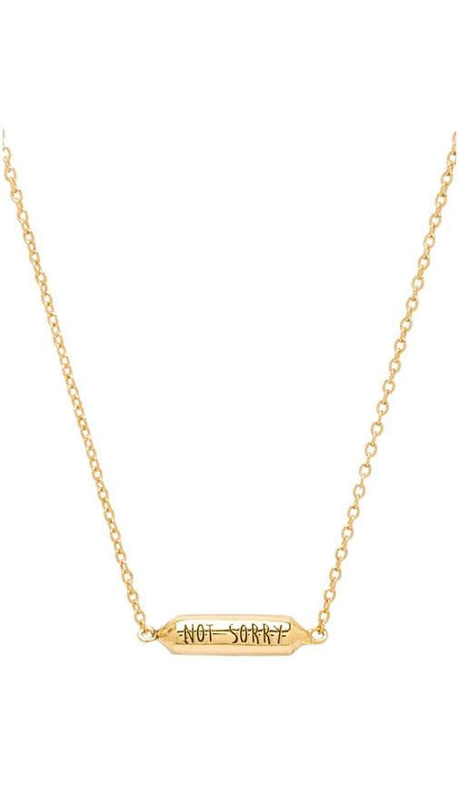 x REVOLVE Sorry/Not Sorry Necklace