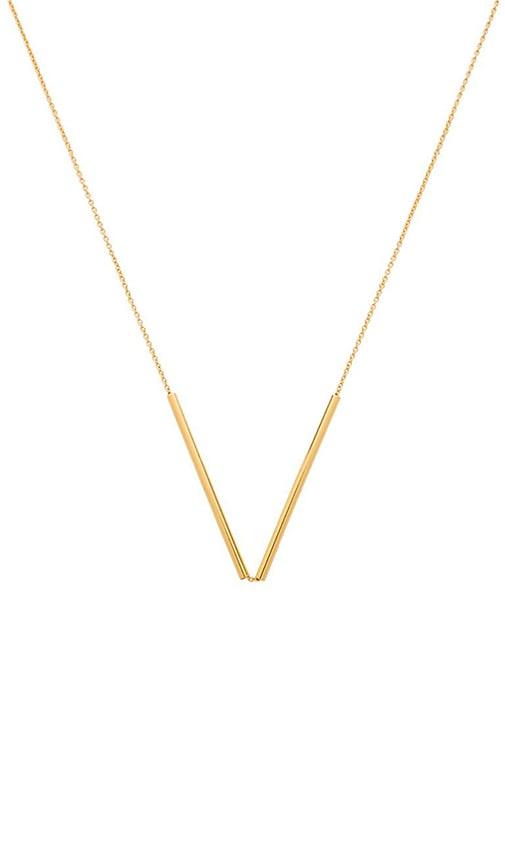 Bali Tube Small V Necklace