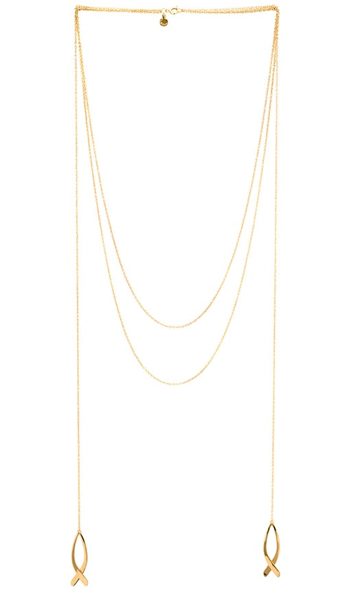 gorjana Viola Tassel Necklace in Gold