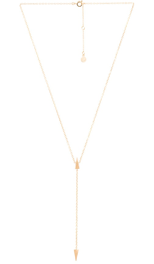 gorjana Takara Lariat Necklace in Metallic Gold