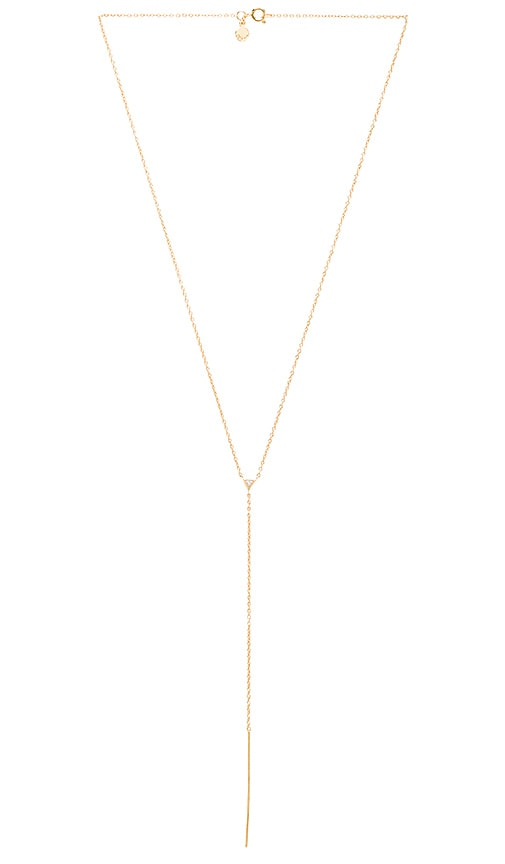 Gorjana Vivienne Bar Lariat in Metallic Gold