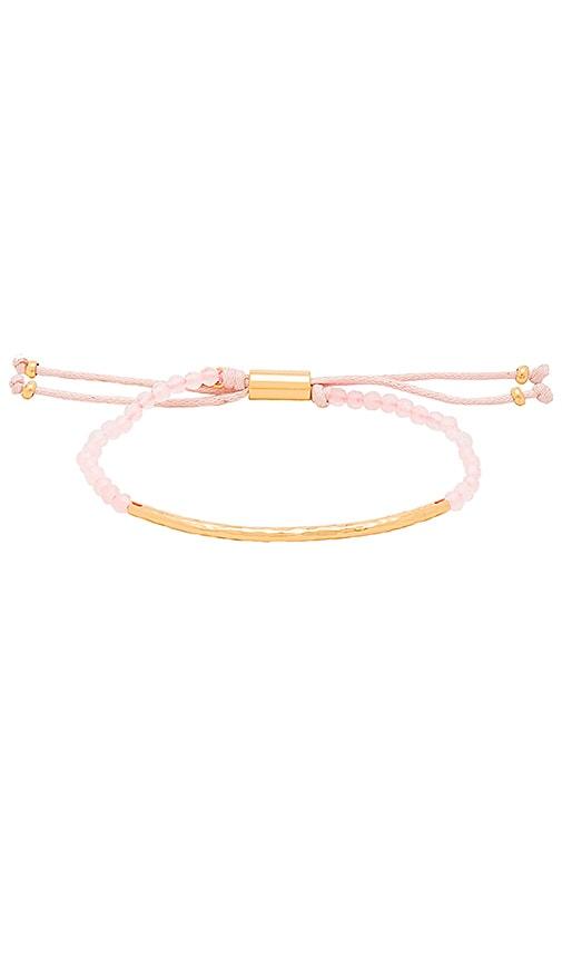 gorjana Taner Gemstone Bracelet in Rose Quartz & Gold