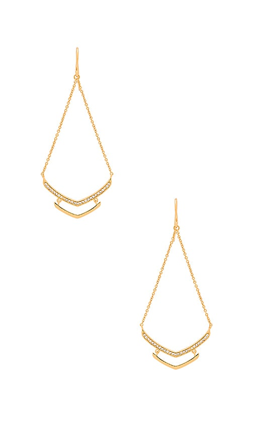 gorjana Cress Shimmer Drop Earring in Metallic Gold
