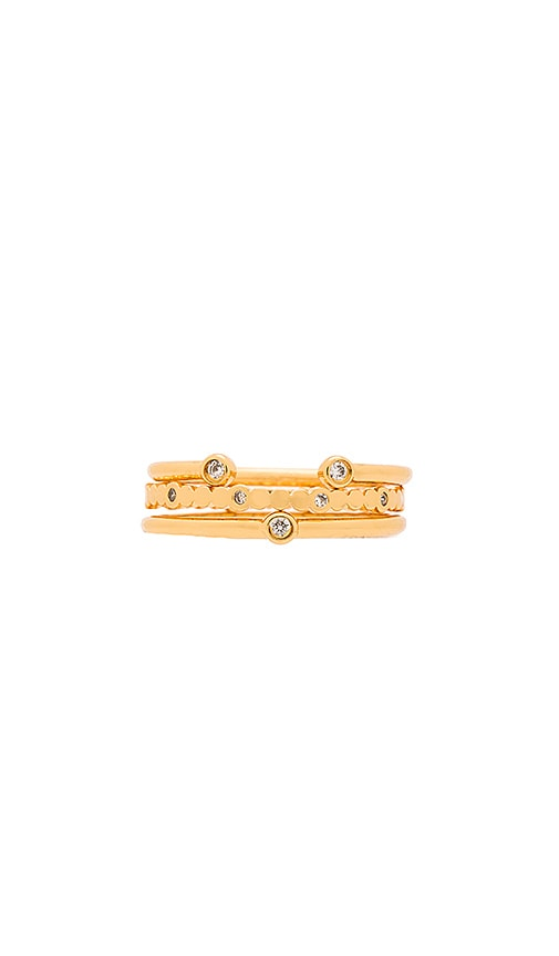 gorjana Medley Ring Set in Gold