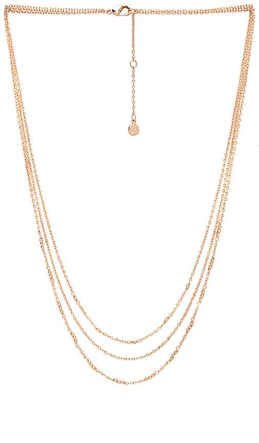 gorjana Joplin Layered Necklace in Rose Gold