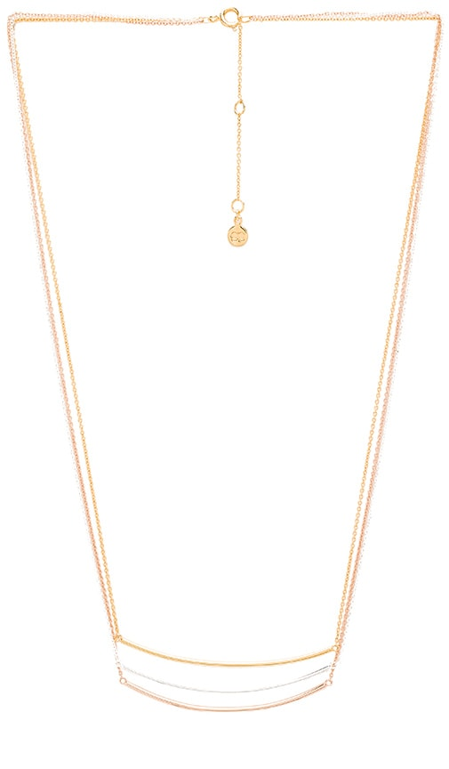 gorjana Carine Mixed Layer Necklace in Metallic Gold