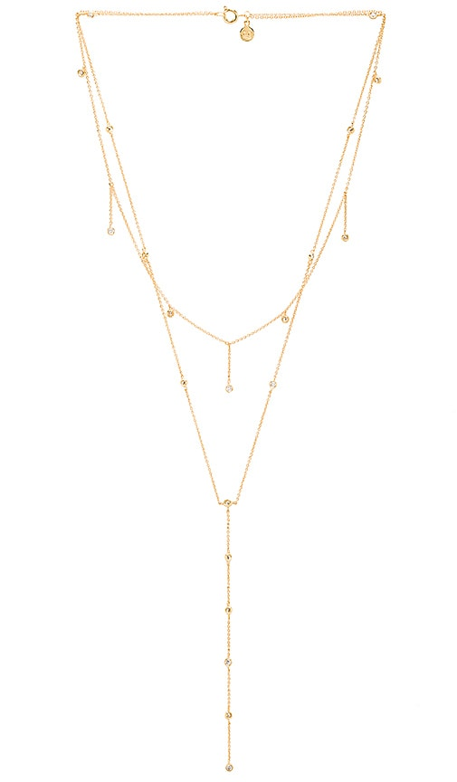 Candice Shimmer Layered Lariat Necklace