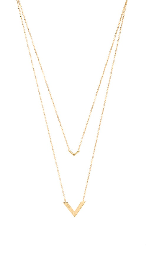 Knox V Double Pendant Necklace