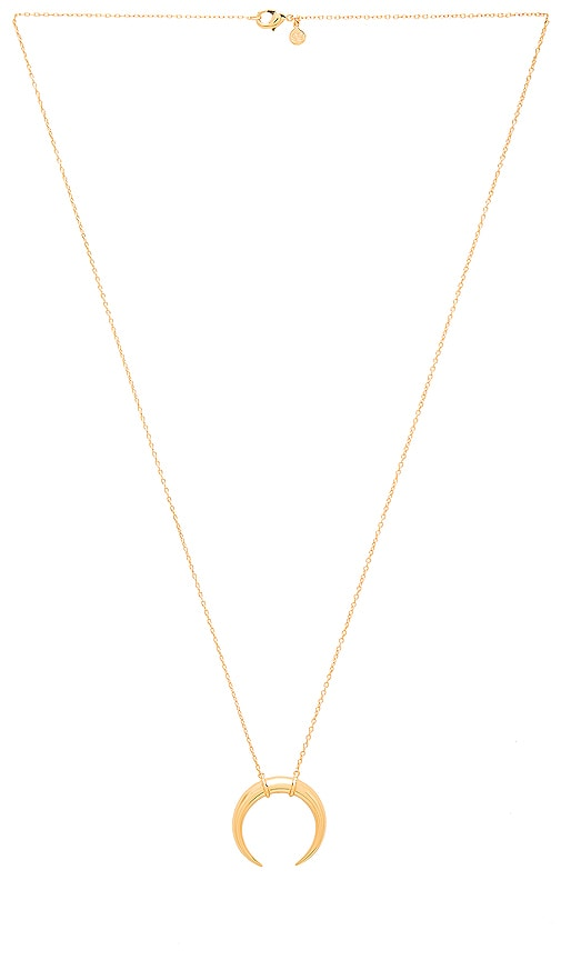 gorjana Cayne Crescent Pendant Necklace in Metallic Gold