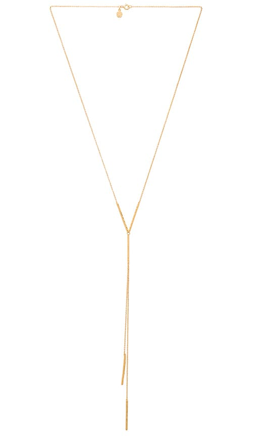 gorjana Kylie Lariat Necklace in Metallic Gold