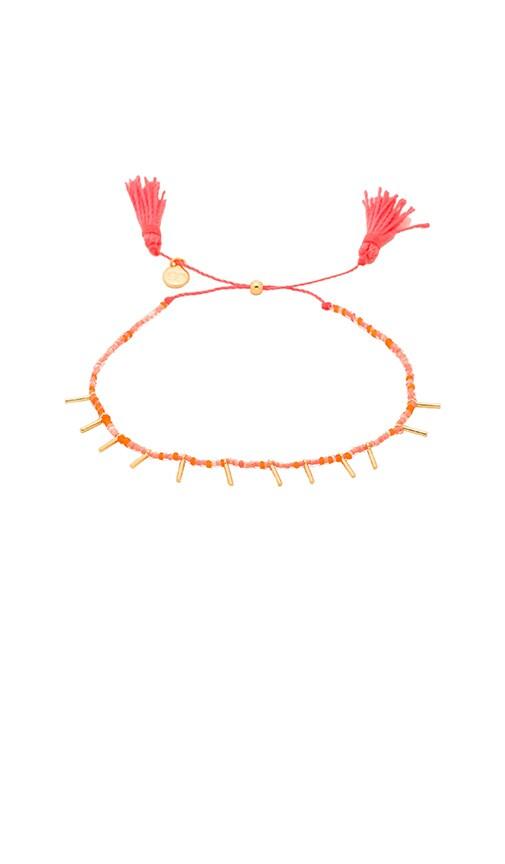 gorjana Marmont Beaded Bracelet in Coral