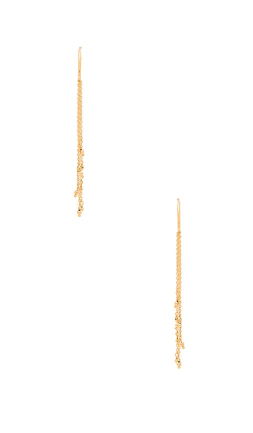 gorjana Sol Drape Hoop Earrings in Gold