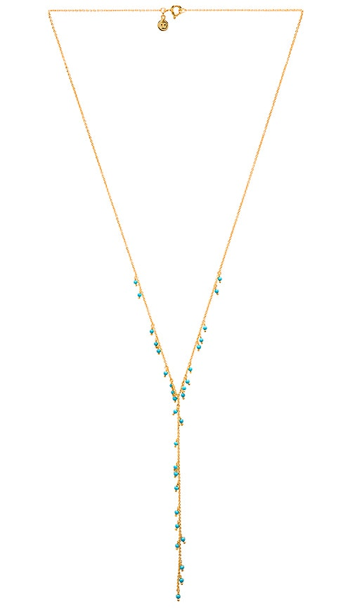 gorjana Lagoon Lariat Necklace in Metallic Gold