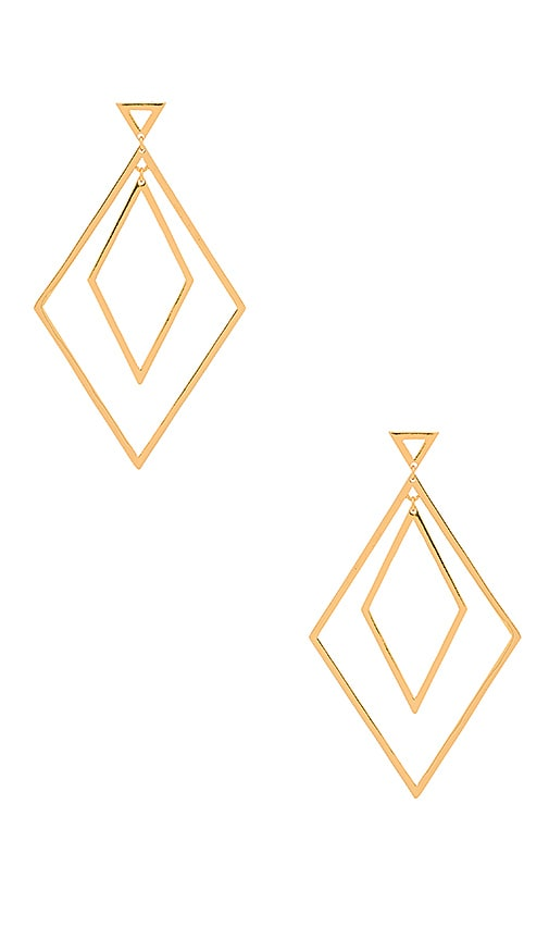 gorjana Liv Double Drop Hoops in Metallic Gold